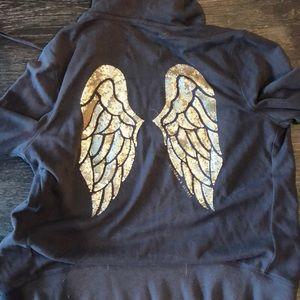 Gold Victoria secret angel wing zip up